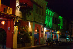 Stary budynku chino portugalczyka styl, ulica Phuket miasteczko Fotografia Royalty Free