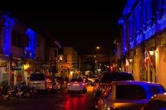 Stary budynku chino portugalczyka styl, ulica Phuket miasteczko przy tw Obraz Royalty Free