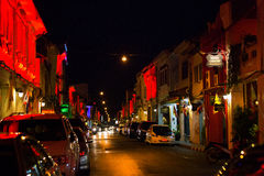 Stary budynku chino portugalczyka styl, ulica Phuket miasteczko przy tw Obraz Stock