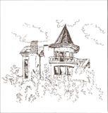 Stary budynku nakreślenie Zdjęcia Royalty Free