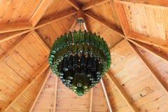 Stary butelka świecznik Zdjęcia Royalty Free
