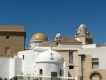 stary Cadiz miasteczko s Zdjęcia Royalty Free