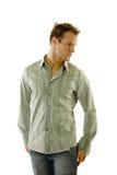 stary cajgu koszula nosić Zdjęcie Stock