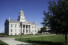 Stary Capitol budynek w Iowa mieście obraz royalty free