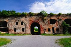 Stary ceglany fort Obraz Royalty Free
