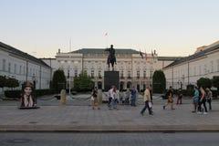 Stary centre Warszawa obraz royalty free