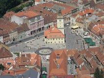 Stary centrum miasta Brasov lato zdjęcie royalty free