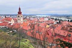 Stary centrum miasta Słoweński stary miasto, Ptuj Zdjęcia Royalty Free