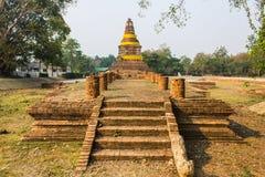 Stary Chedi w Wiang Kum Kam, Antyczny miasto Zdjęcia Royalty Free