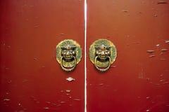 Stary chiński drzwi Obrazy Royalty Free