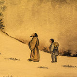 Stary chiński obraz zdjęcia royalty free