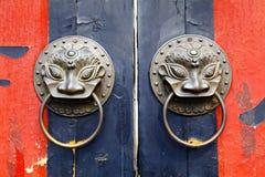 Stary chiński drzwi Zdjęcie Royalty Free