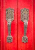 stary chiński drzwi Fotografia Royalty Free