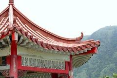 Stary Chiński pagoda dach w wsi fotografia royalty free