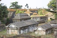 Stary chrześcijański cmentarz obraz stock