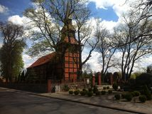 Stary Chwalim church, Poland Royalty Free Stock Images