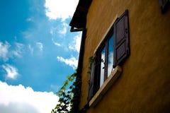 stary ściana okien Fotografia Stock