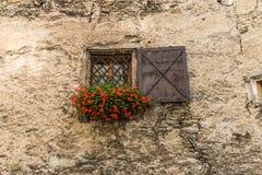 stary ściana okien Obraz Royalty Free
