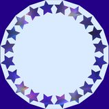 Stary Circle Blue Stock Images