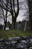Stary cmentarz lokalizować przy Hyssna starym kościół w Szwecja zdjęcia royalty free