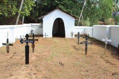 Stary cmentarz w Goa Zdjęcia Royalty Free