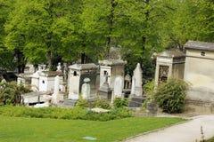 Stary cmentarz w Paris Obrazy Royalty Free
