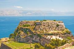 stary Corfu forteca Obrazy Stock