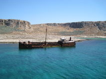 stary Crete wrak Greece Fotografia Royalty Free