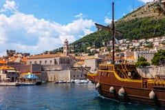 stary Croatia port Dubrovnik Zdjęcie Stock