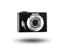 Stary cyfrowej kamery czerń odizolowywający na białym tle Zdjęcie Royalty Free
