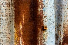 Stary cynk powierzchni tło Fotografia Stock