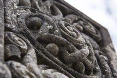 Stary cyzelowanie na headstone Zdjęcie Royalty Free