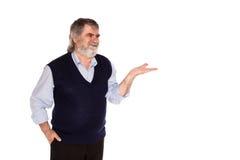 Stary człowiek odizolowywający na bielu Obraz Stock
