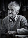 Stary człowiek salowy, monochrom tonujący Fotografia Royalty Free