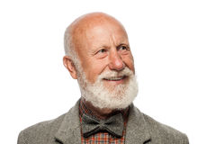 Stary człowiek z dużą brodą i uśmiechem Zdjęcia Royalty Free