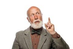 Stary człowiek z dużą brodą i uśmiechem fotografia royalty free
