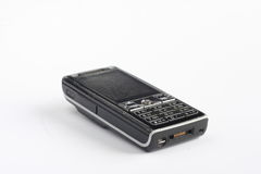 Stary czarny guzika telefon komórkowy Zdjęcie Royalty Free