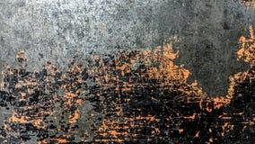 Stary czarny i pomarańcze pasiasty stalowy prześcieradło ilustracji