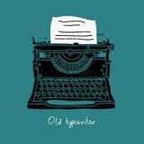 Stary czarny maszyna do pisania royalty ilustracja