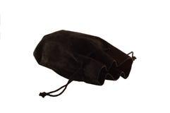 Stary czarny torba pieniądze Zdjęcia Stock