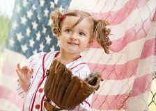 Stary czasu baseball Obraz Royalty Free