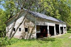 Stary czasu garaż Zdjęcie Stock