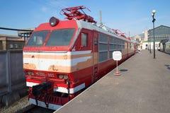 Stary Czechoslovak pasażerski elektryczny CHS200 kolej w St Petersburg Obraz Royalty Free
