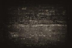 Stary czerni ściany tło Tekstura z rabatowym czarnym winiety tłem Zdjęcie Royalty Free