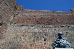 Stary czerwonej cegły forteca w Livorno, Włochy, Fotografia Royalty Free
