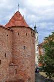 Stary czerwonej cegły wierza zdjęcie stock