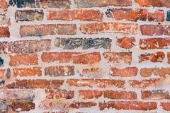 Stary czerwony brickwall Zdjęcia Royalty Free