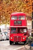 Stary Czerwony Dwoistego Decker autobus w Londyn, UK Obrazy Royalty Free