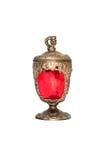 Stary czerwony kubek Obrazy Royalty Free
