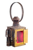 Stary czerwony lampion Zdjęcie Royalty Free